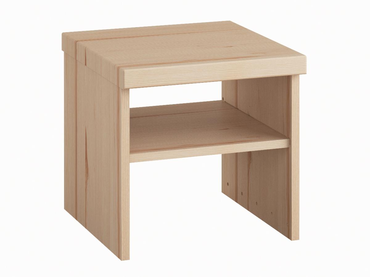 """Nachttisch aus Eschenholz ohne Lade """"Alfred"""" in Standardhöhe"""