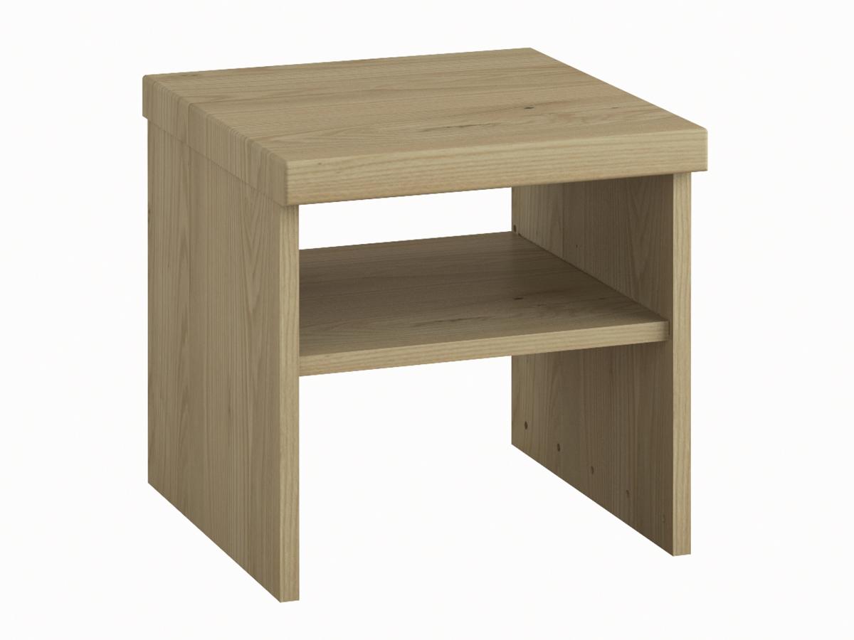 """Nachttisch aus Kastanie ohne Lade """"Alfred"""" in Standardhöhe"""