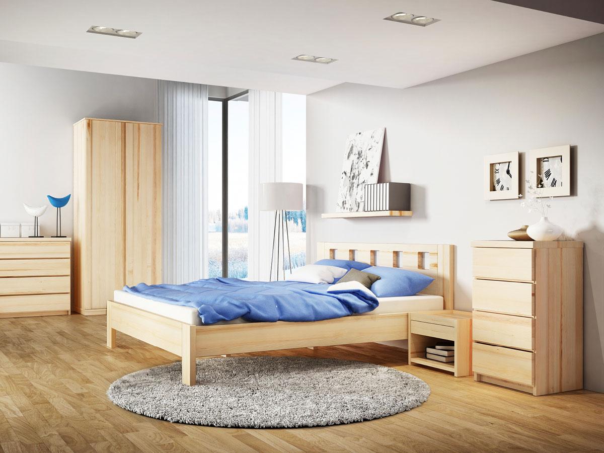 """Schlafzimmer mit Nachttisch aus Esche """"Johann"""""""