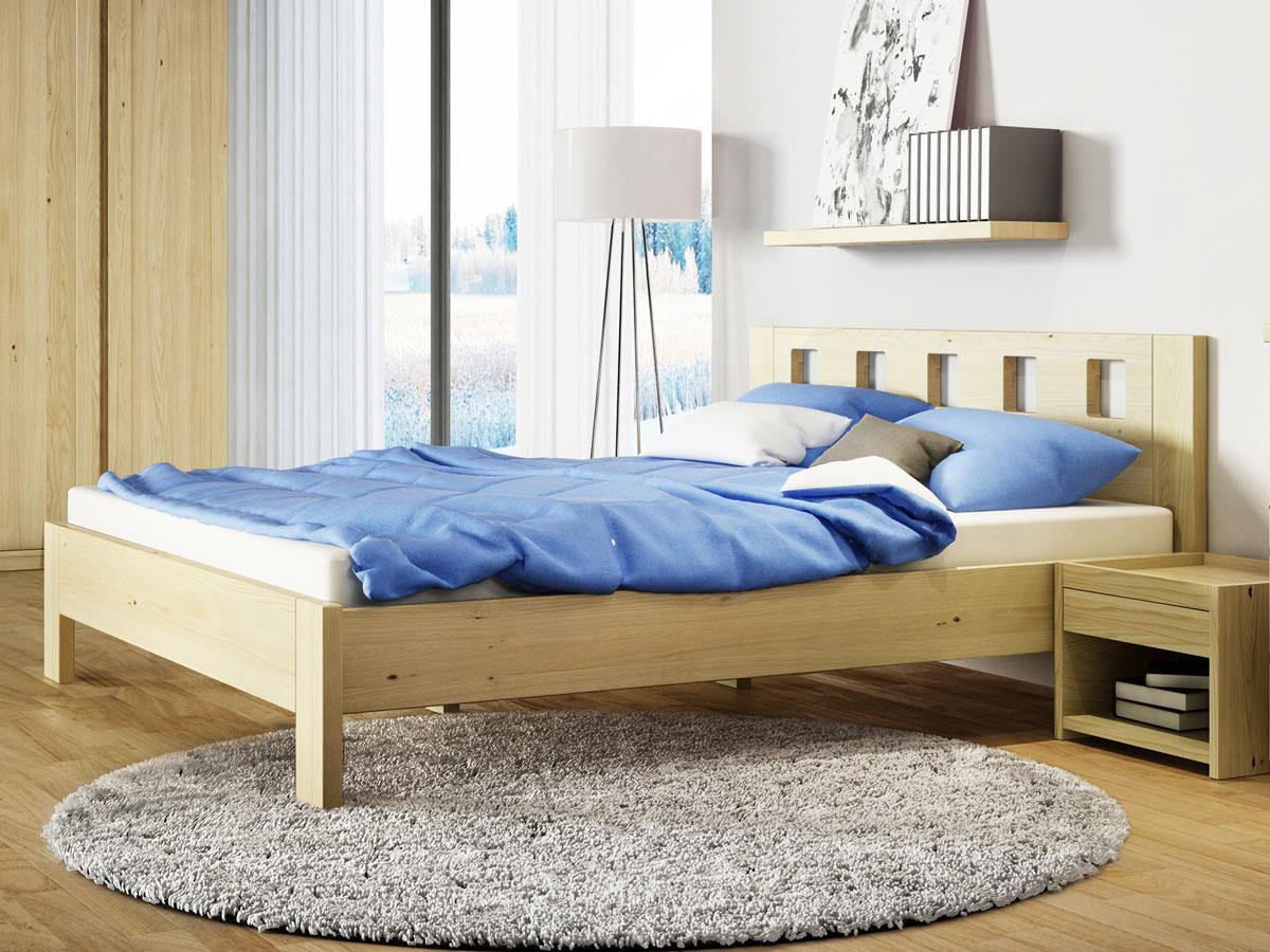 """Schlafzimmer mit Kastanienbett """"Alma"""""""