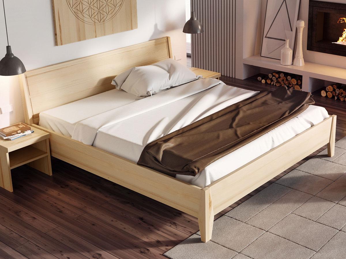 """Schlafzimmer mit Bett Esche massiv """"Andreas"""" 180 x 200 cm"""