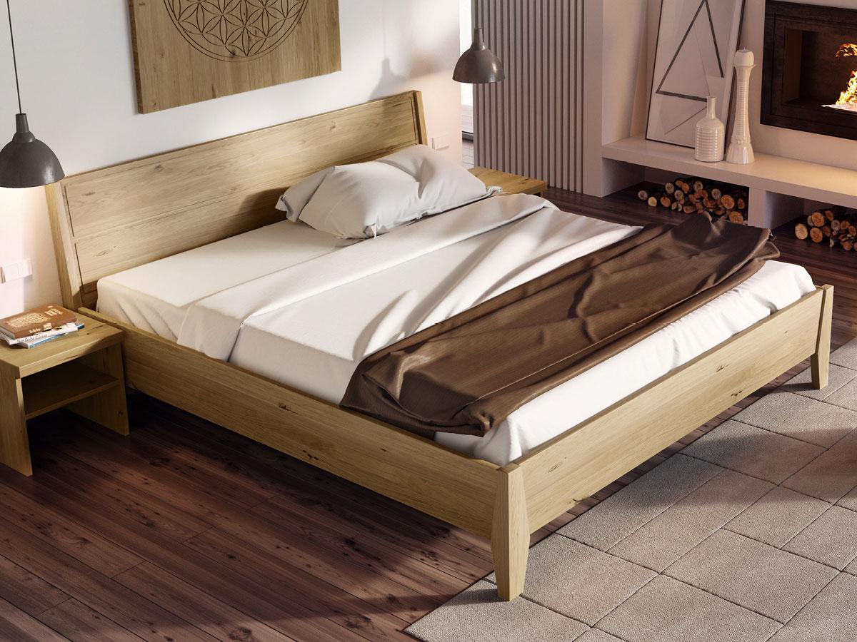 """Schlafzimmer mit Bett Wildeiche massiv """"Andreas"""" 180 x 200 cm"""