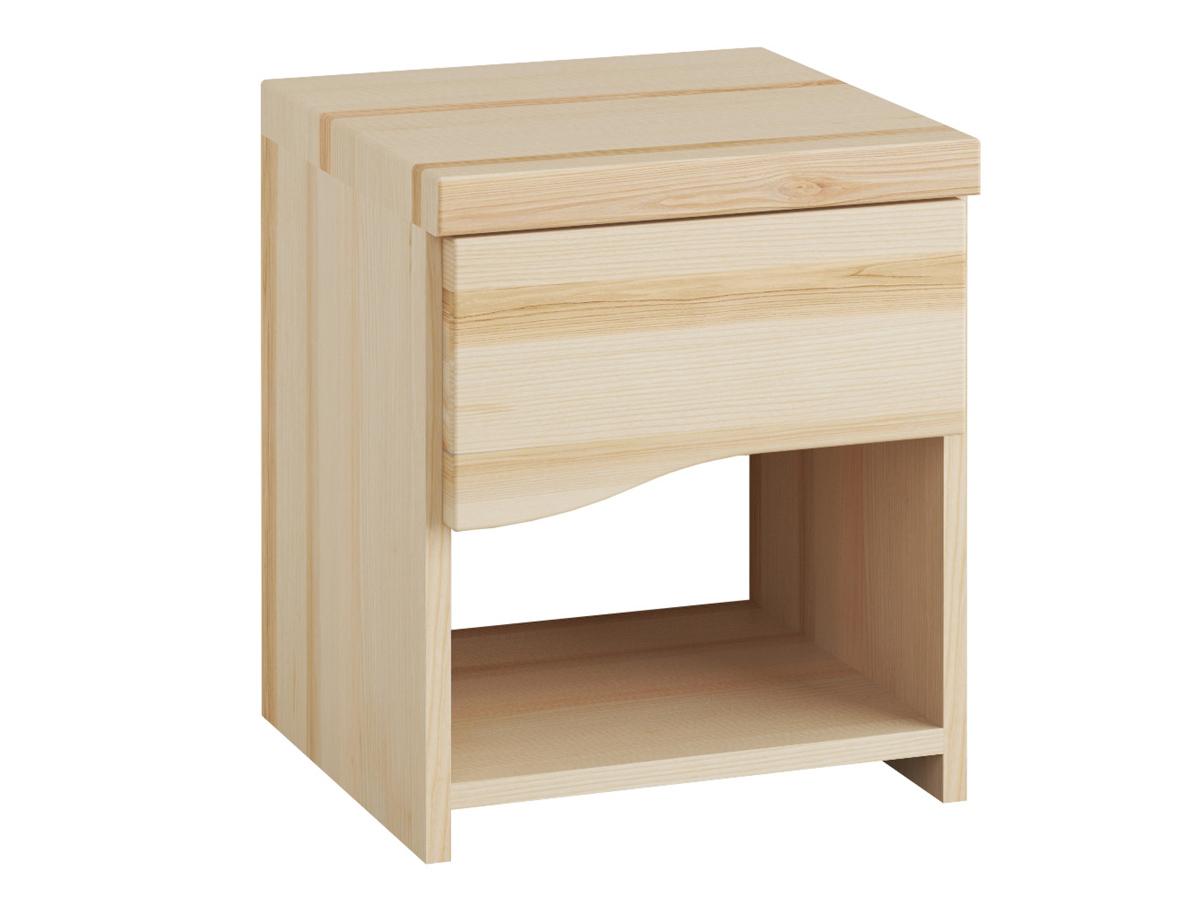 """Nachttisch aus Esche """"Astrid"""" mit einer Schublade, in Komforthöhe"""