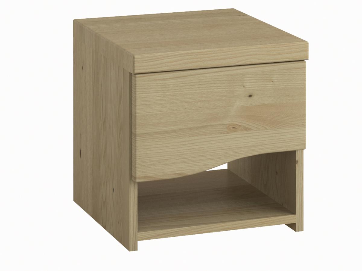 """Nachttisch aus Kastanie """"Astrid"""" mit einer Schublade, in Standardhöhe"""
