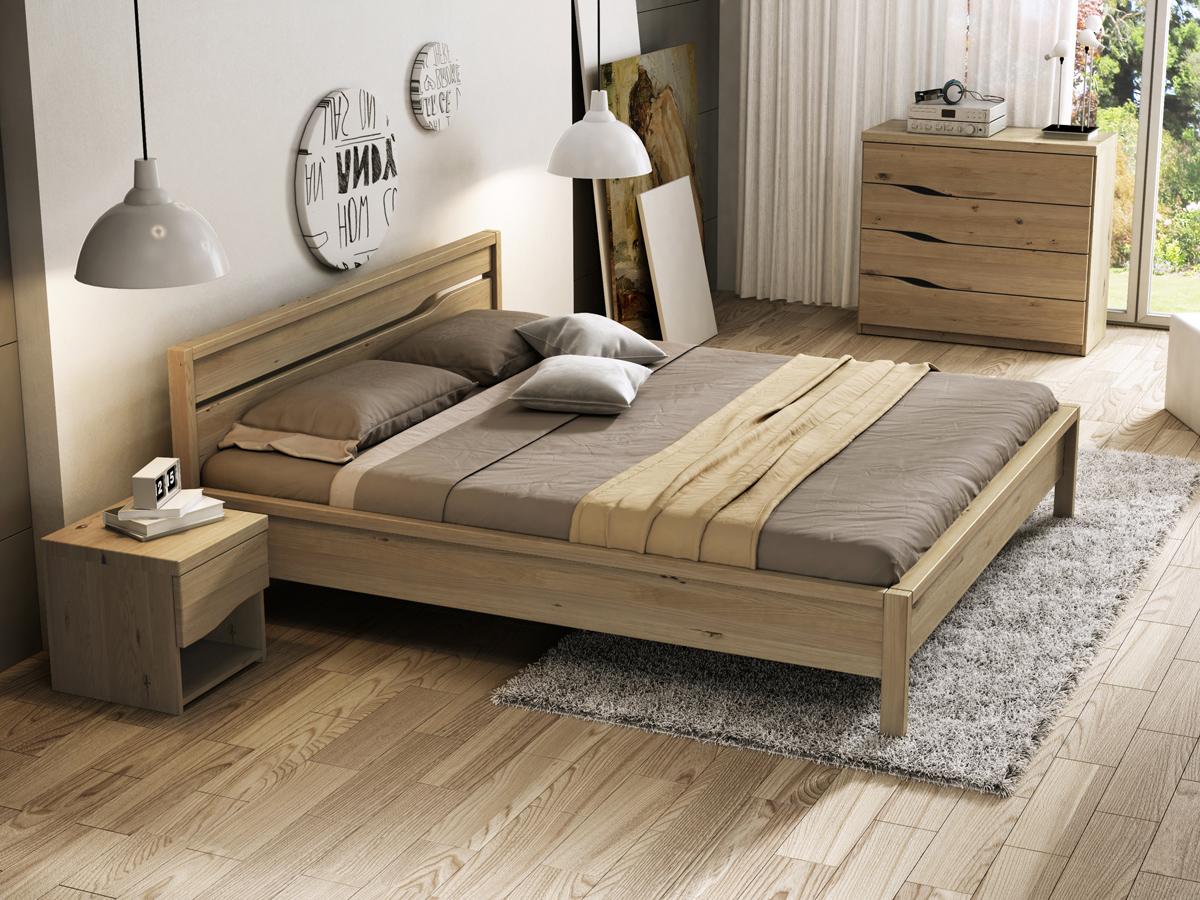 """Schlafzimmer mit Wildeichenbett """"Barbara"""""""