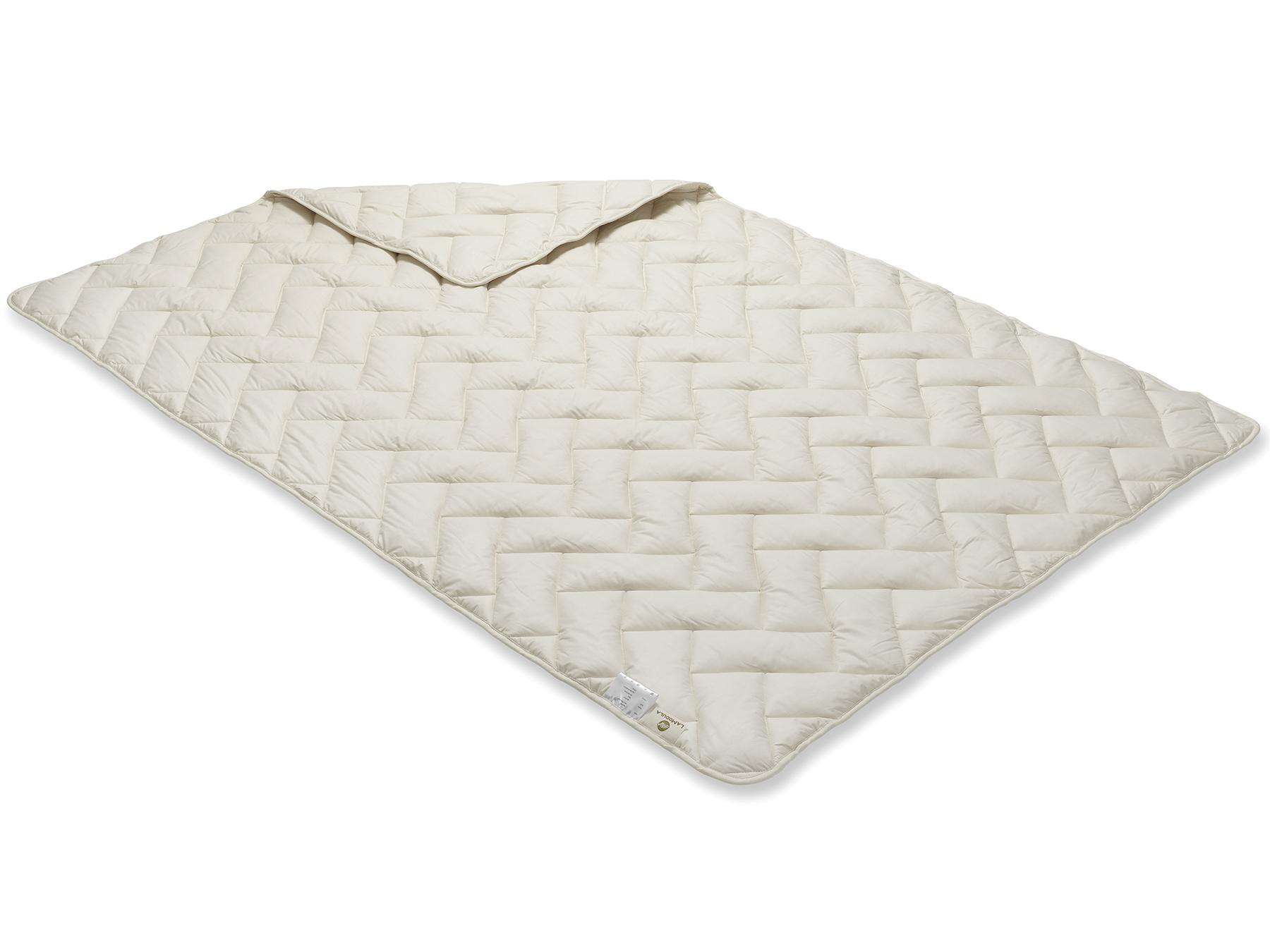 Das gleichmäßige Muster entsteht in der Produktion mit der Vielnadeltechnik.
