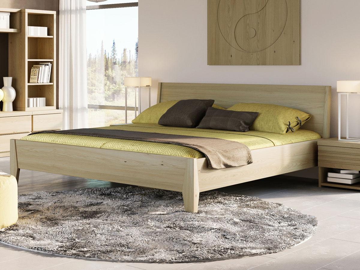 """Schlafzimmer mit Kastanienholzbett """"Benjamin"""" 180 x 200 cm"""