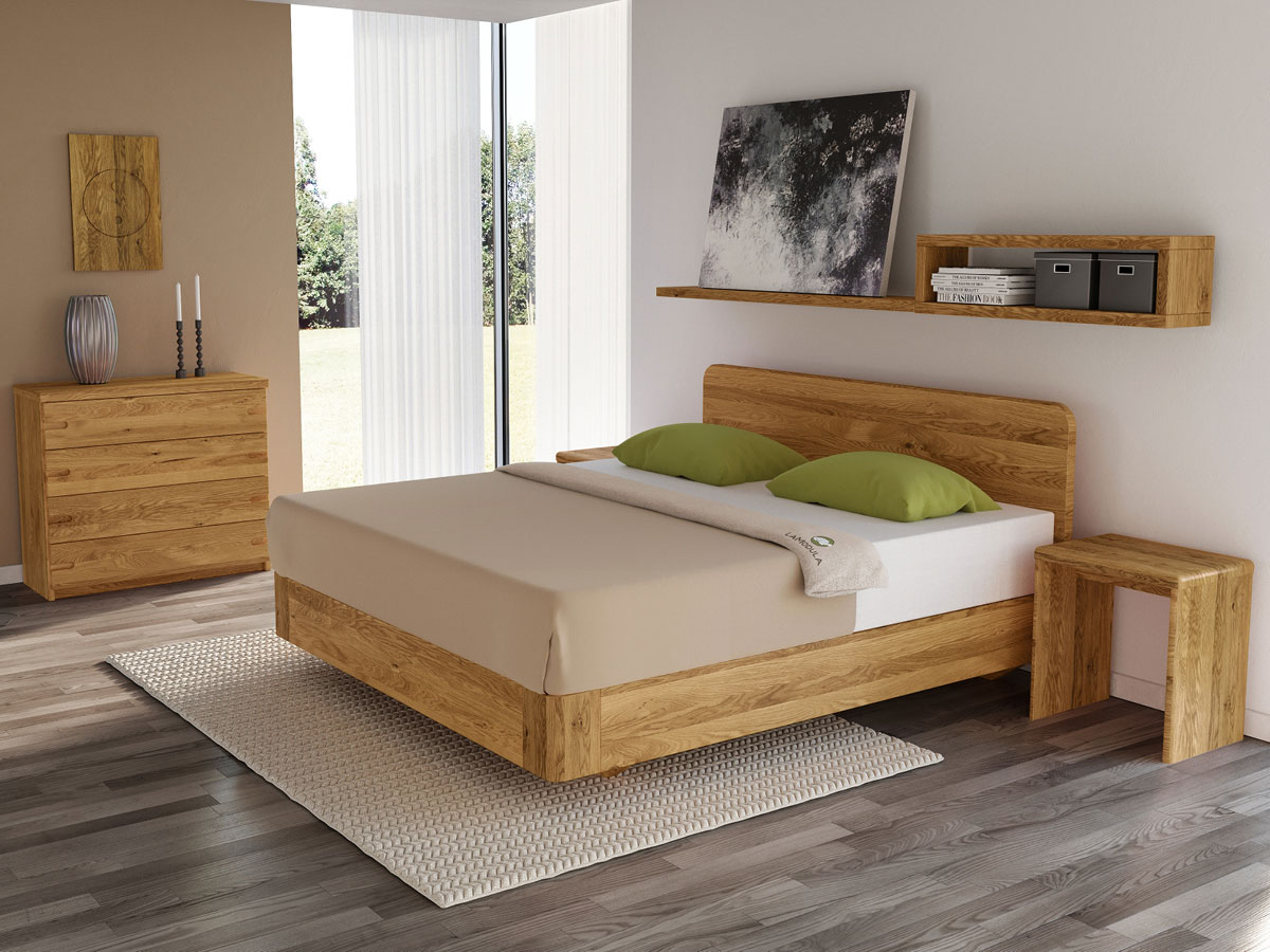 """Schlafzimmer mit Eichenbett """"Clara"""" Boxspring"""