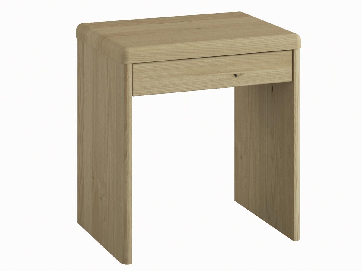"""Nachttisch aus Kastanie """"Doris"""" in Boxspringhöhe, mit Schublade"""