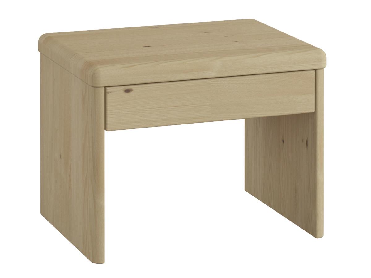 """Nachttisch aus Kastanie """"Doris"""" in Standardhöhe, mit Schublade"""