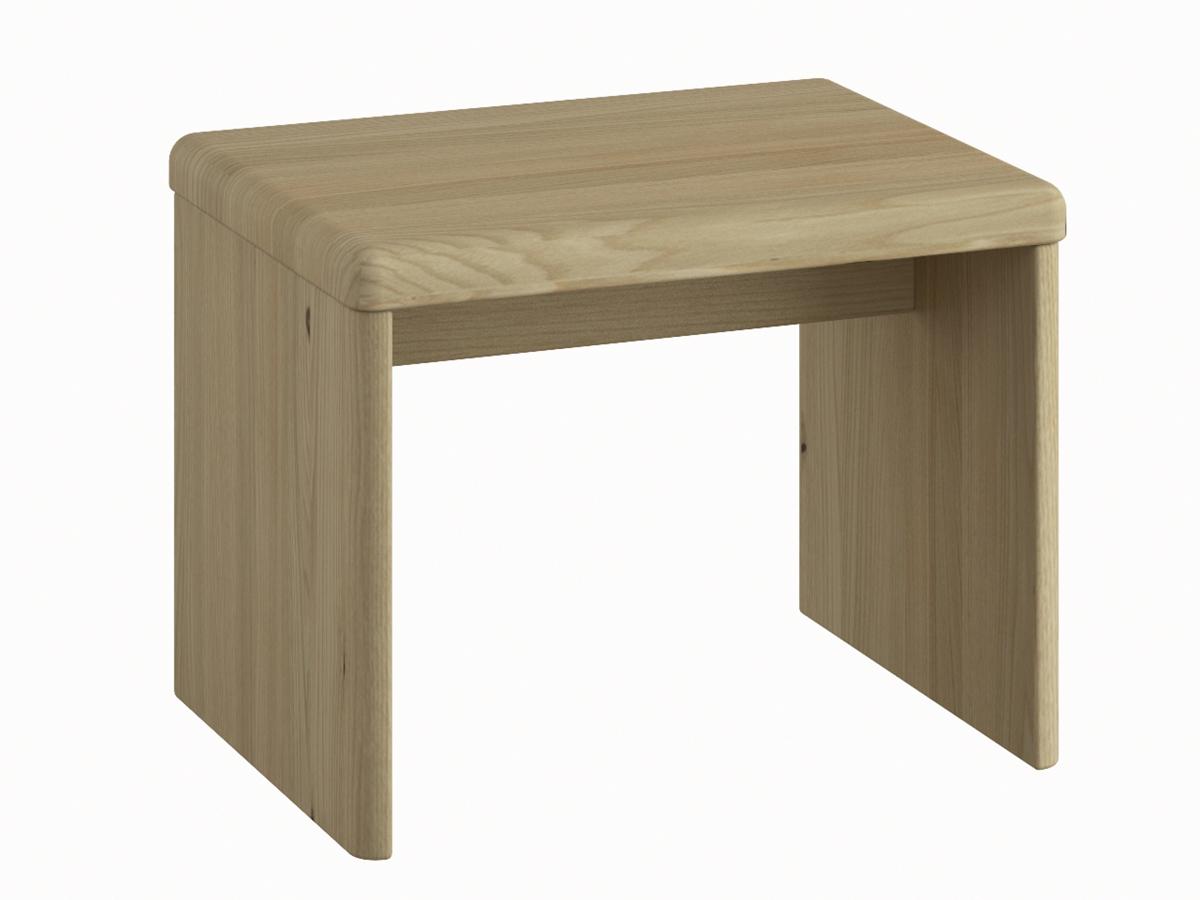 """Nachttisch aus Kastanie """"Doris"""" in Standardhöhe, ohne Schublade"""