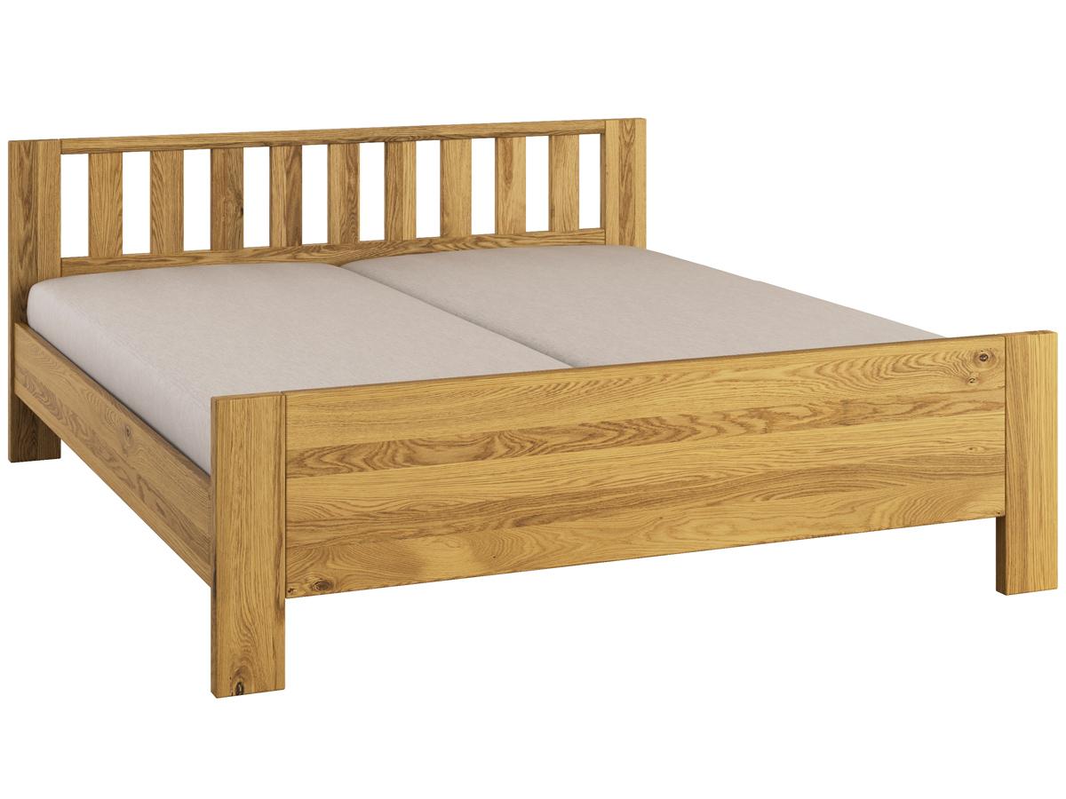 """Bett Eiche """"Bernhard"""" 180 x 200 cm mit erhöhtem Fußteil"""