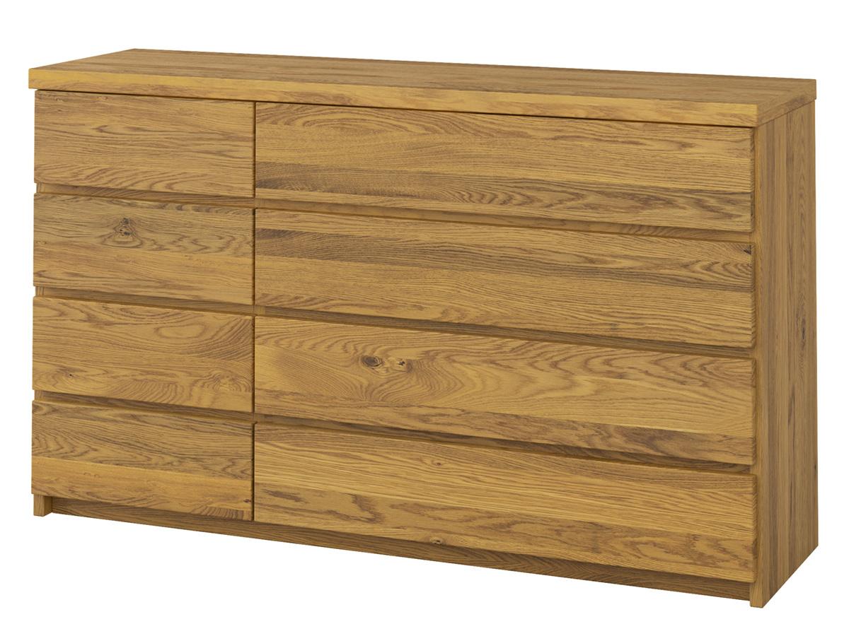 """Eichenkommode """"Alois"""" 150 cm mit großen Schubladen rechts und kleinen Schubladen links"""