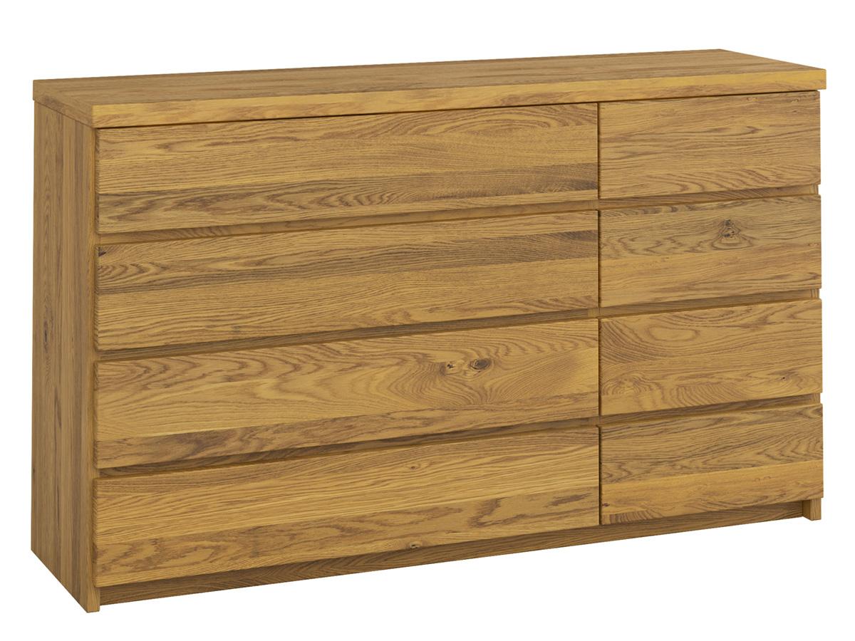 """Eichenkommode """"Alois"""" 150 cm mit großen Schubladen links und kleinen Schubladen rechts"""