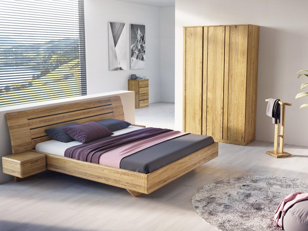 """Eichenschlafzimmer mit Kleiderständer """"Johann"""""""