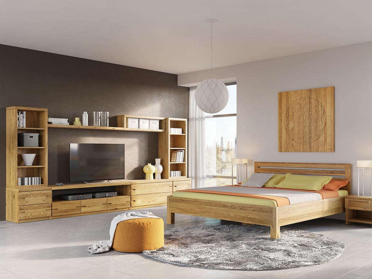 """Eichenwohnzimmer mit Lowboard """"Patrizia"""""""