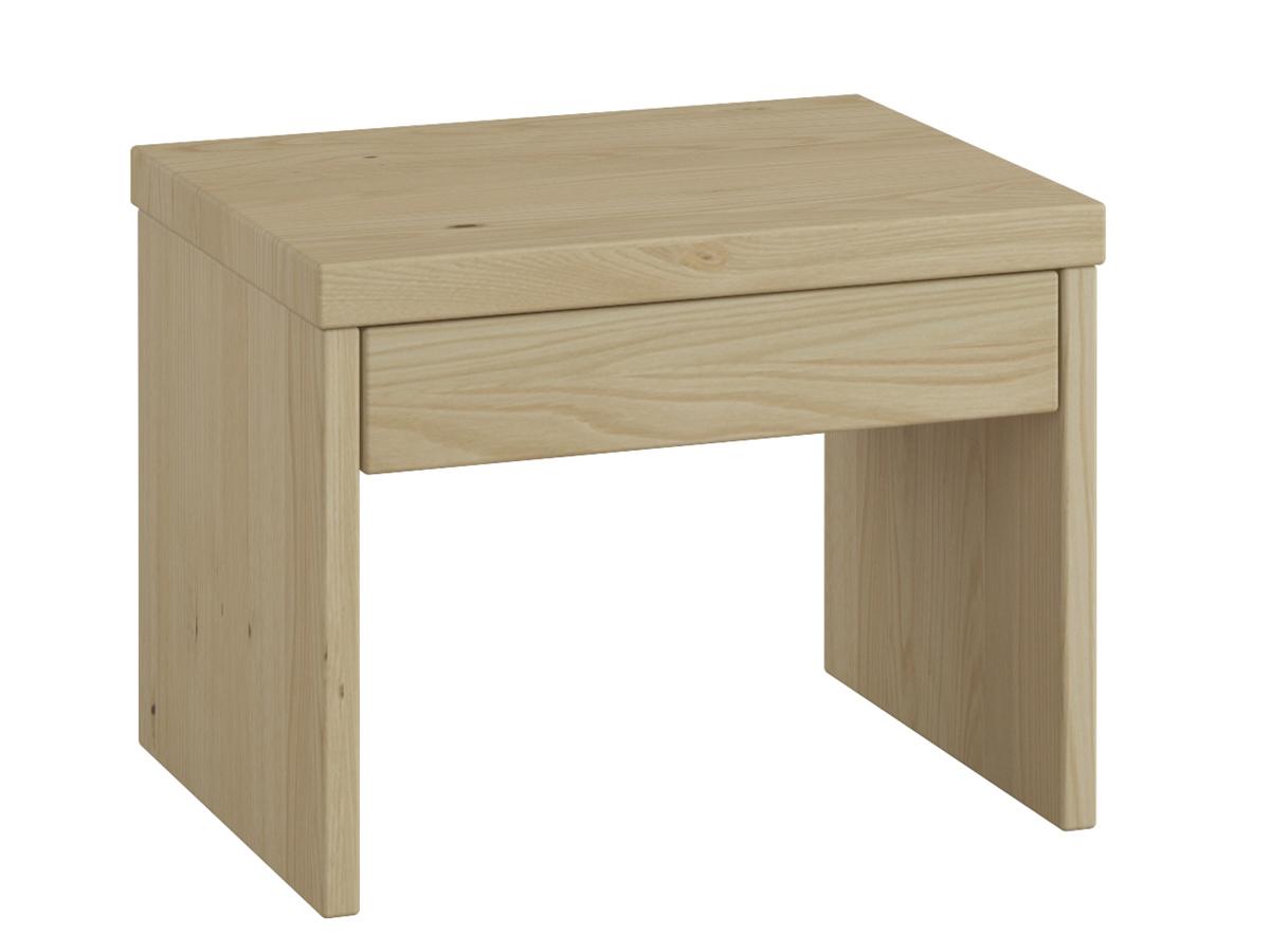 """Nachttisch aus Kastanie """"Emil"""" mit Schublade in Standardhöhe"""