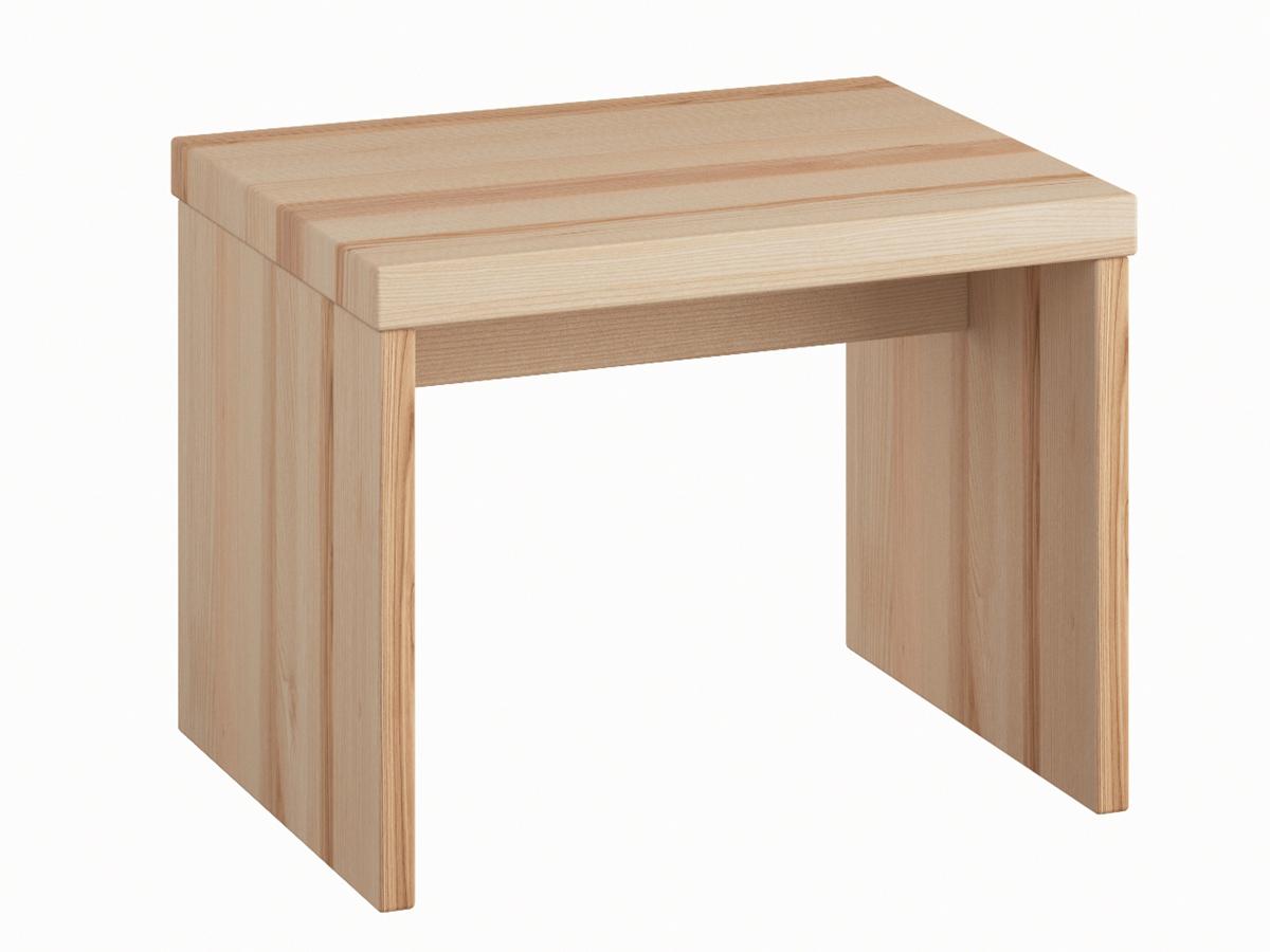 """Nachttisch aus Esche """"Emil"""" ohne Schublade in Standardhöhe"""