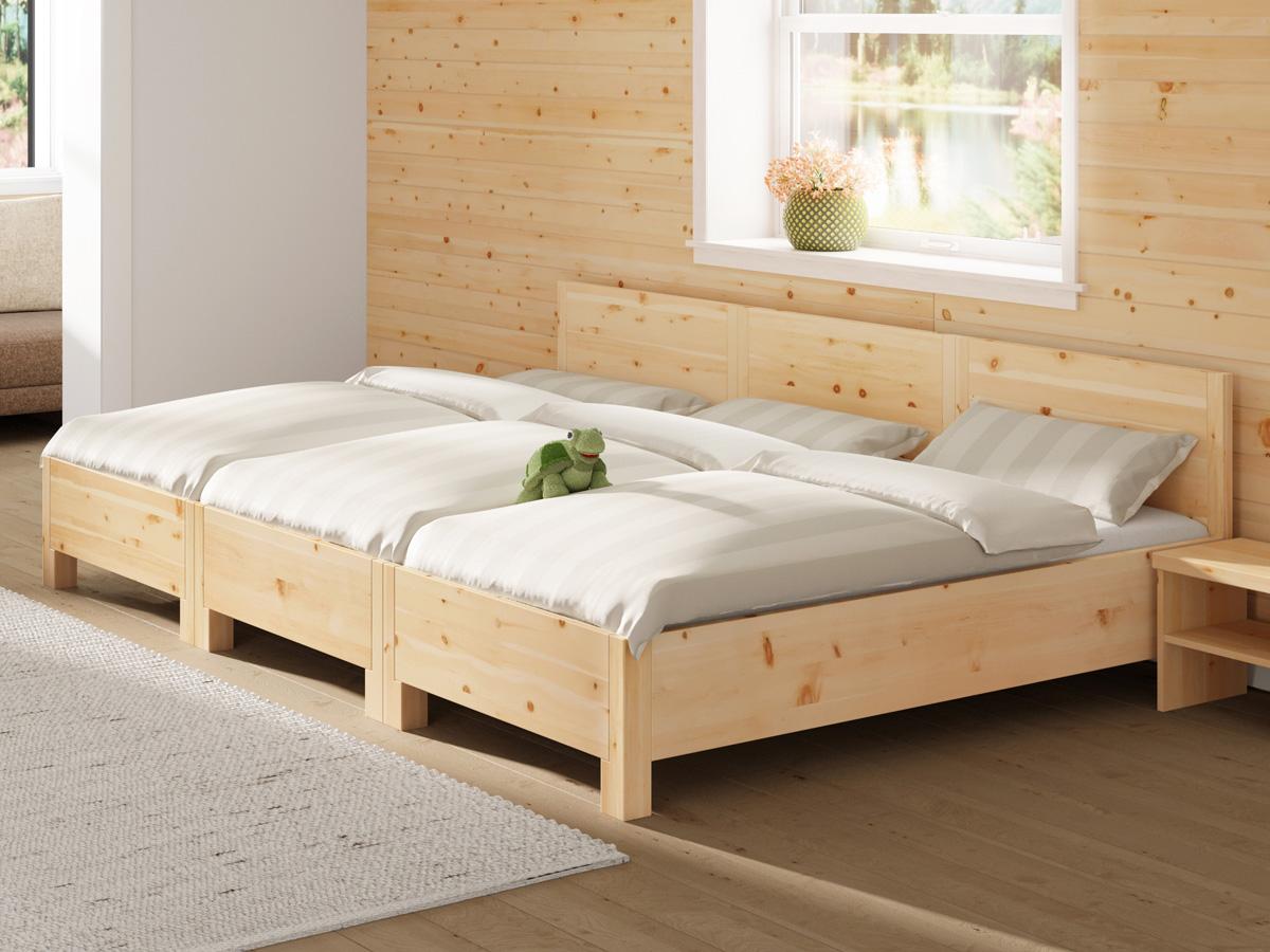 """Familienbett """"Josef"""" bestehend aus 3 Betten mit den Maßen 90 x 200 cm"""