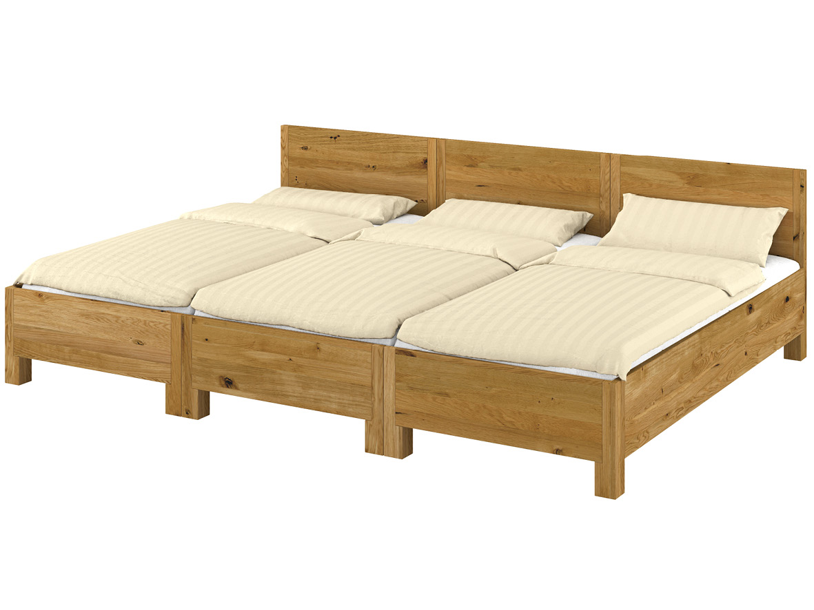 Weil nur die Außenseitenteile der Betten in klassischer Ausführung gehalten sind, ist eine Liegefläche ohne störende Spalten möglich.
