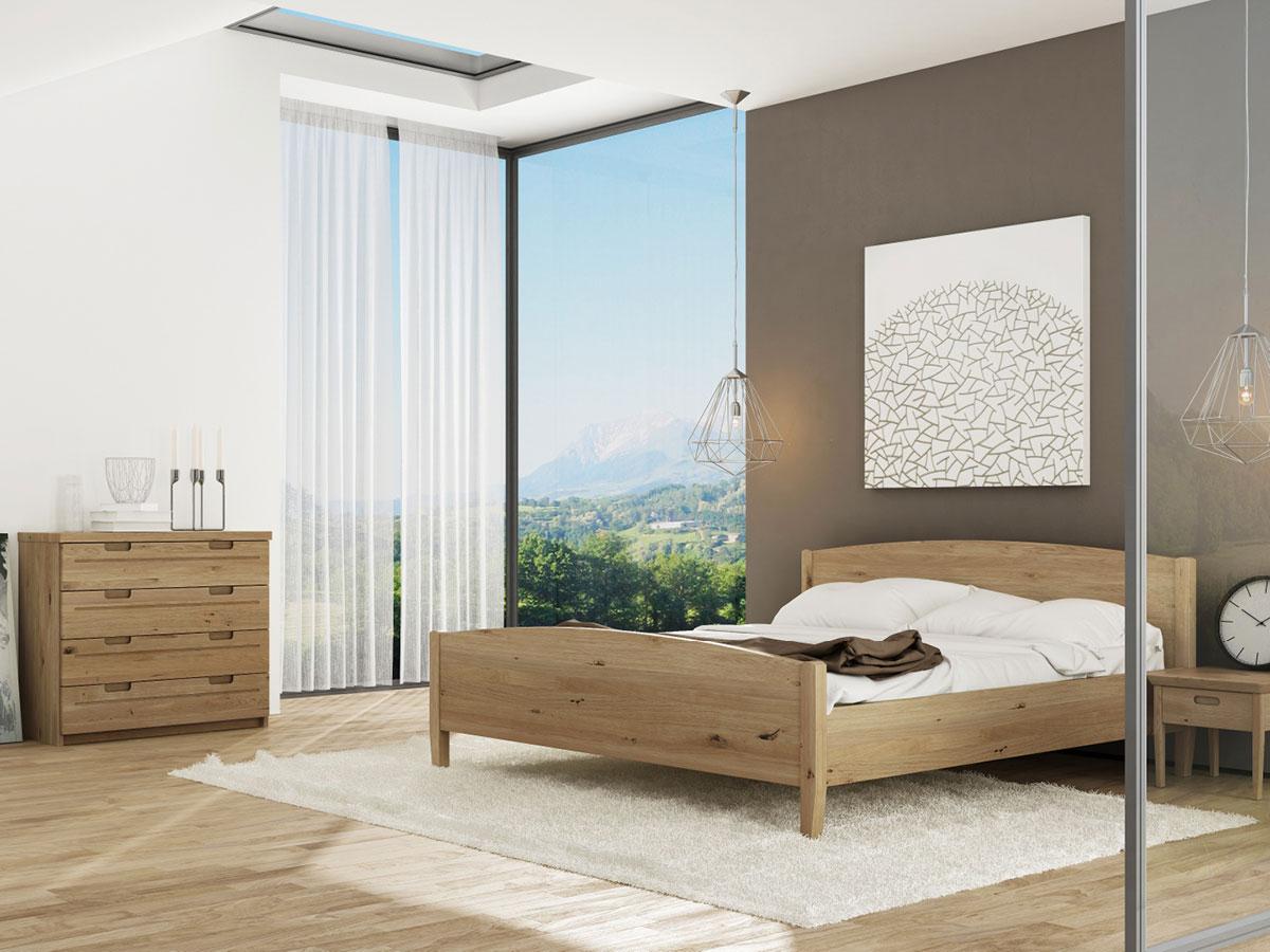 """Schlafzimmer mit Wildeichenbett """"Felix"""""""