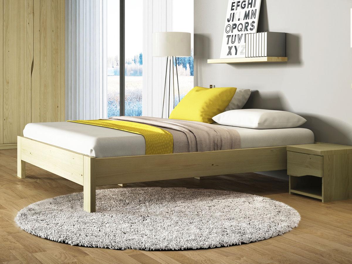 """Schlafzimmer mit Bett aus Kastanie """"Frida"""""""
