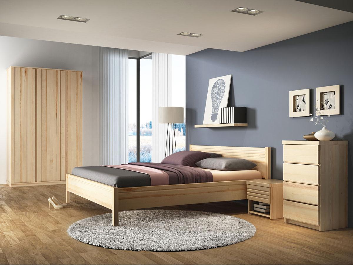 """Schlafzimmer mit Nachttisch in Esche """"Hannes"""""""