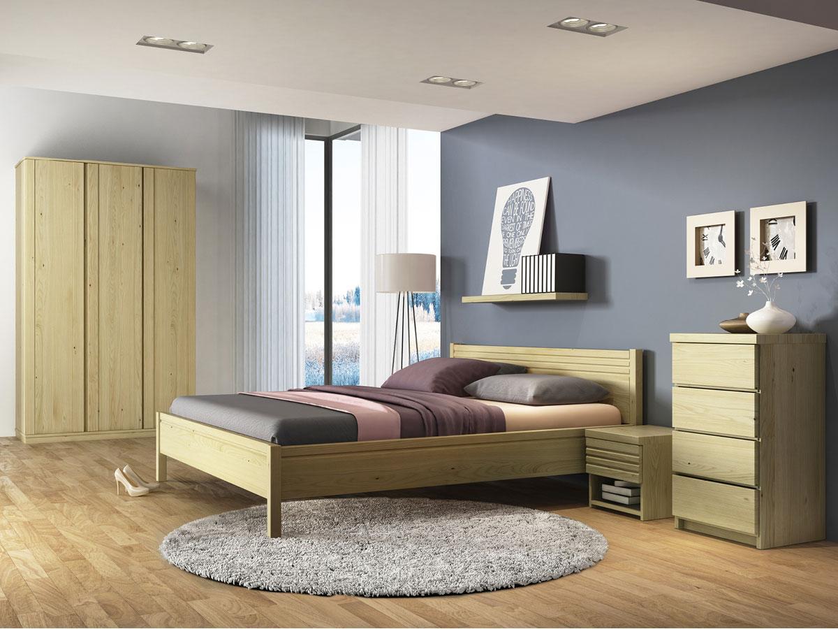 """Schlafzimmer mit Nachttisch in Kastanie """"Hannes"""""""