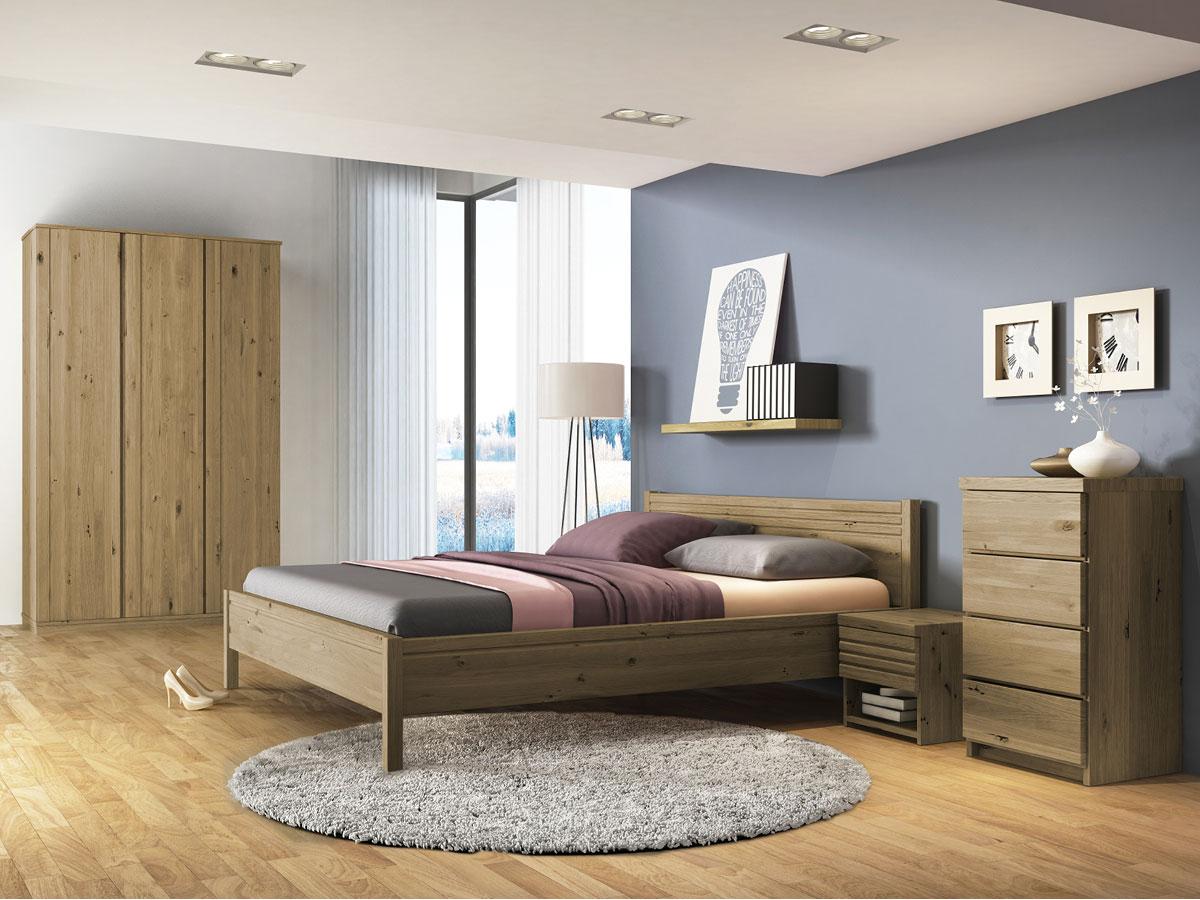 """Schlafzimmer mit Nachttisch in Wildeiche """"Hannes"""""""