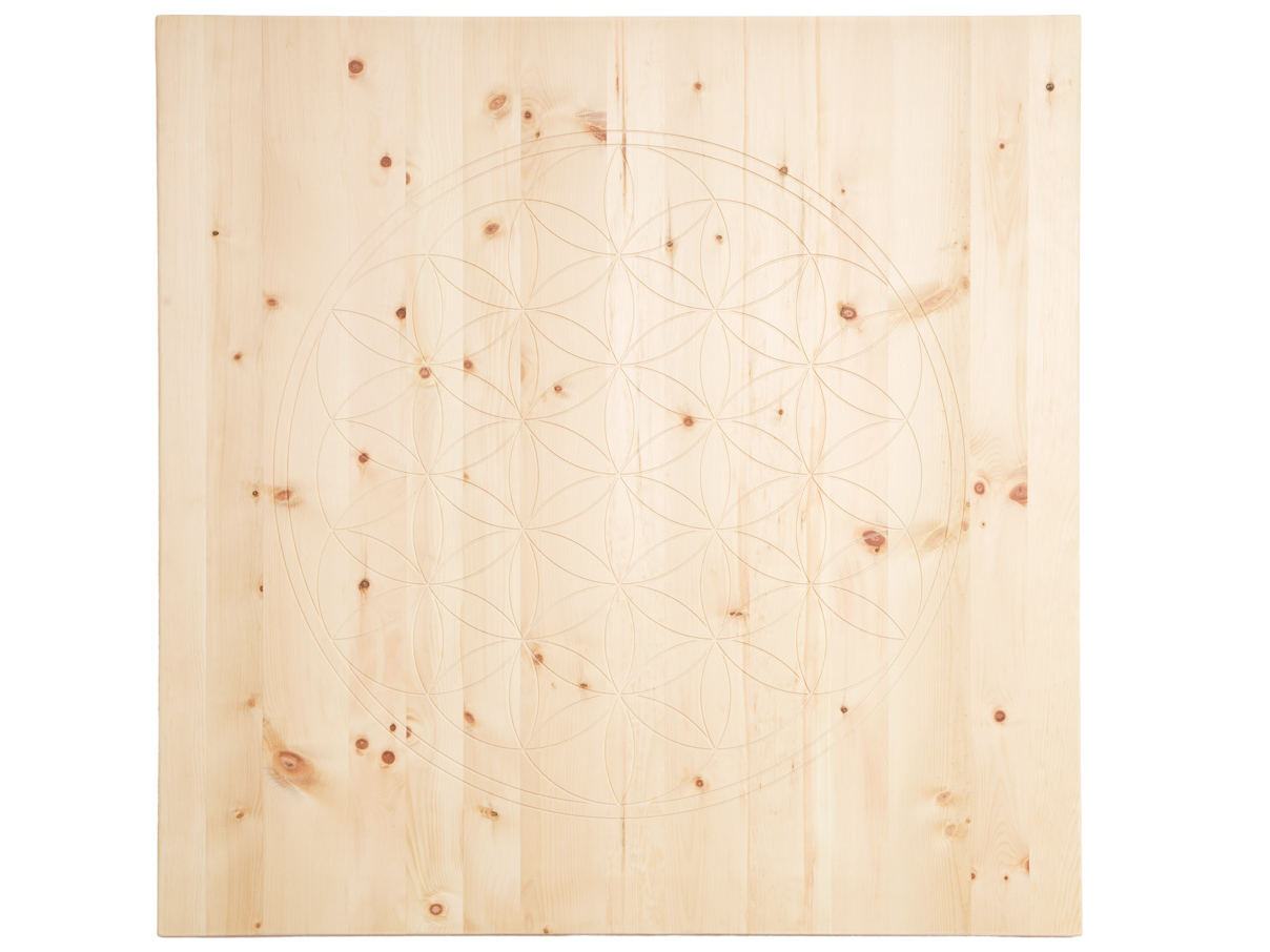 Wandbild aus Zirbenholz 95 x 95 cm