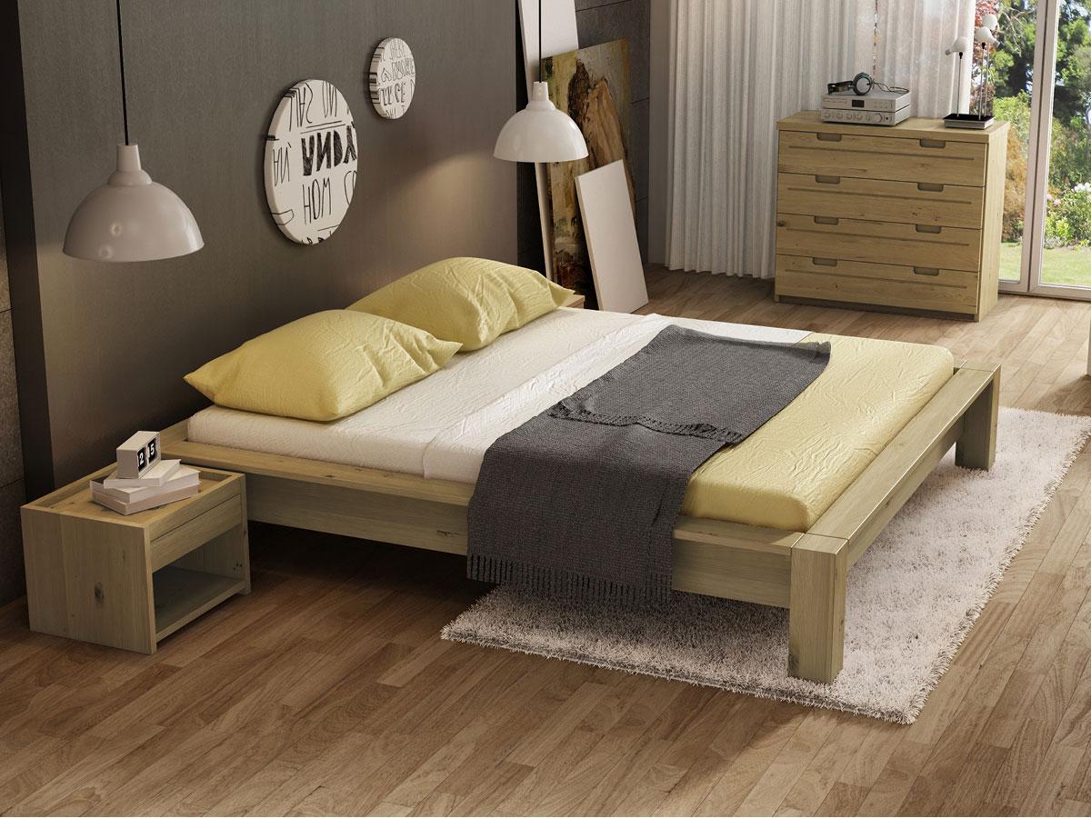 """Schlafzimmer mit Wildeichenbett """"Ina"""""""