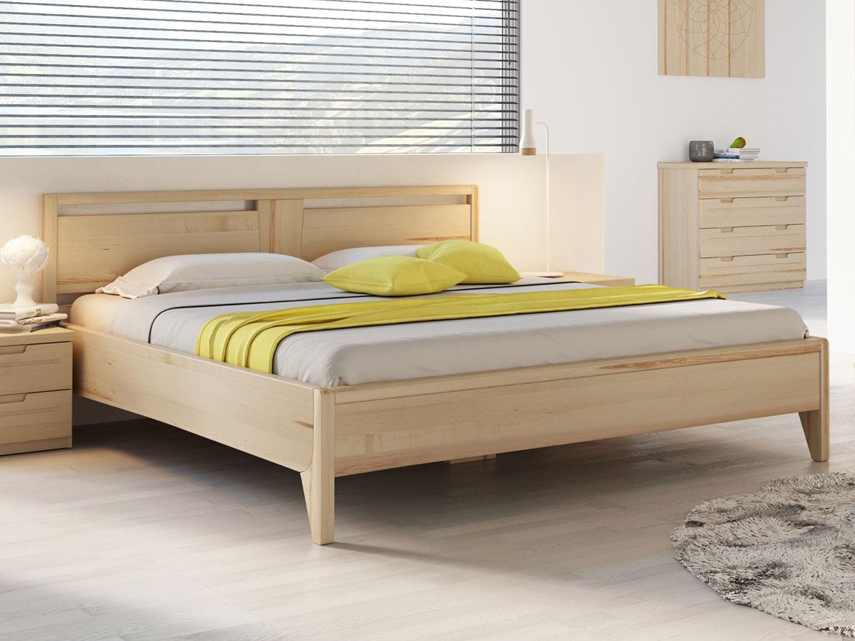 """Schlafzimmer mit Eschenholzbett """"Jessika"""" 180 x 200 cm"""