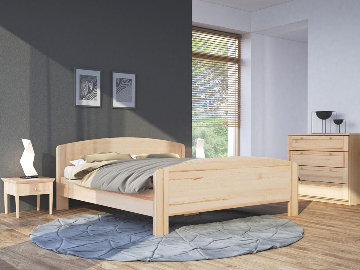 """Schlafzimmer mit Massivholzbett aus Esche """"Kerstin"""" 180 x 200 cm"""