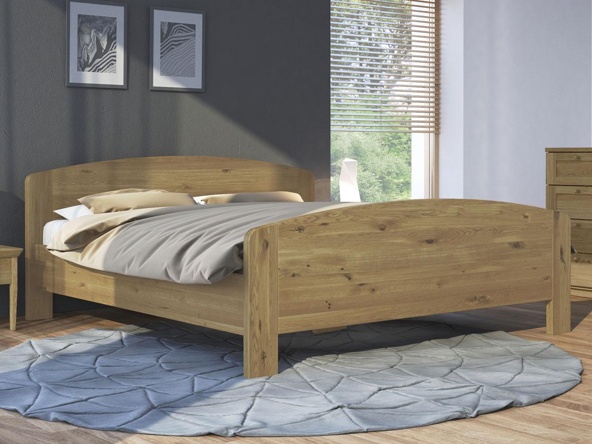 """Schlafzimmer mit Massivholzbett aus Wildeiche """"Kerstin"""" 180 x 200 cm"""