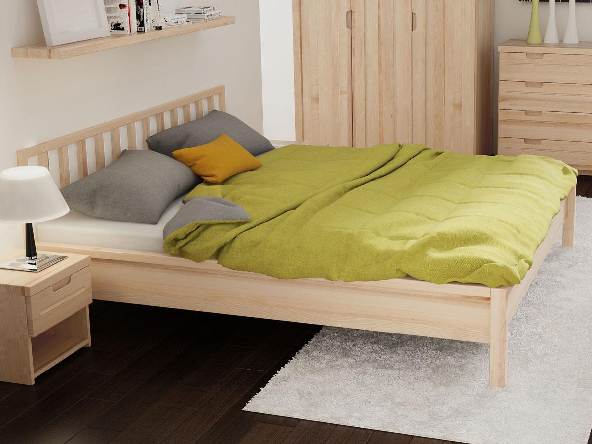 """Schlafzimmer mit Eschenholzbett """"Lena"""" 180 x 200 cm"""
