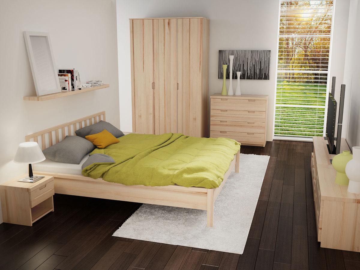 """Schlafzimmer mit Regal """"Klaus"""" in Esche"""