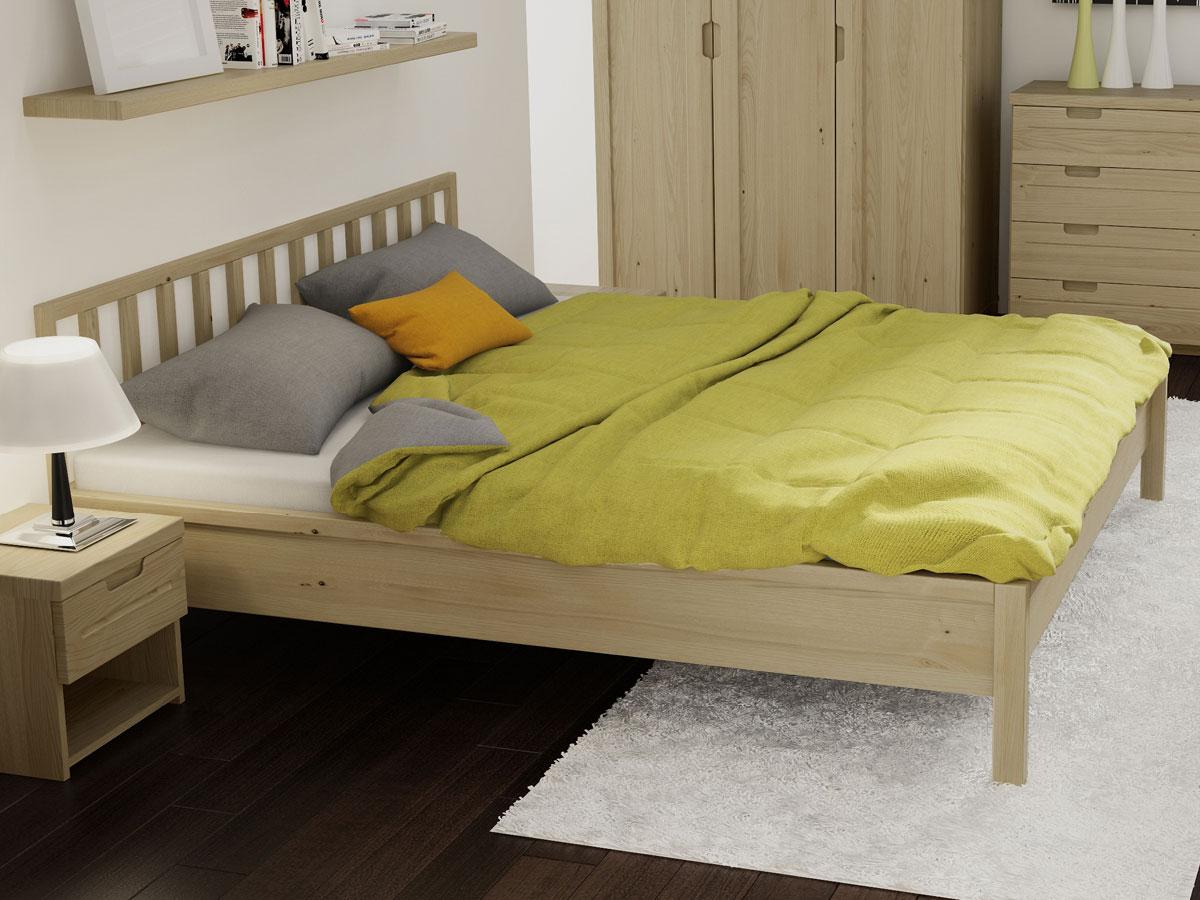 "Schlafzimmer mit Kastanienholzbett ""Lena"" 180 x 200 cm"