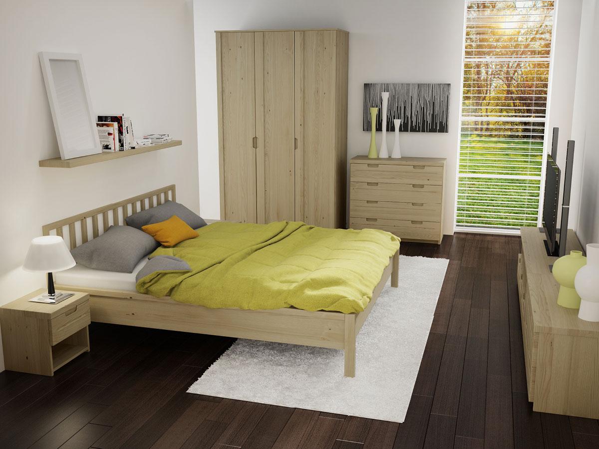 """Schlafzimmer mit Regal """"Klaus"""" in Kastanie"""