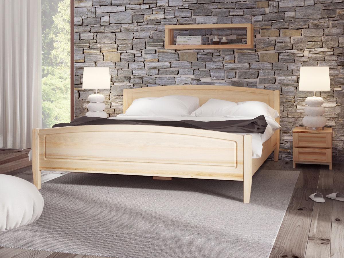 """Schlafzimmer mit Bett aus Esche """"Linda"""" 180 x 200 cm"""