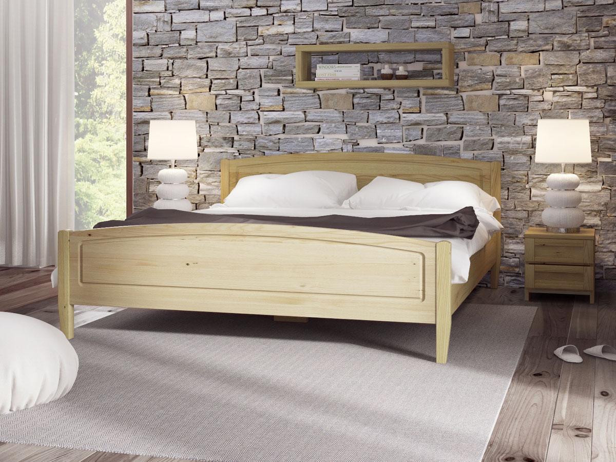 """Schlafzimmer mit Nachttisch """"Susanne"""" in Standardhöhe"""