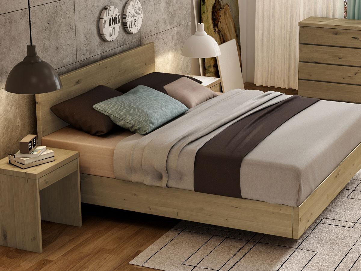 """Schlafzimmer mit Wildeichenbett """"Lukas"""" Boxspring"""