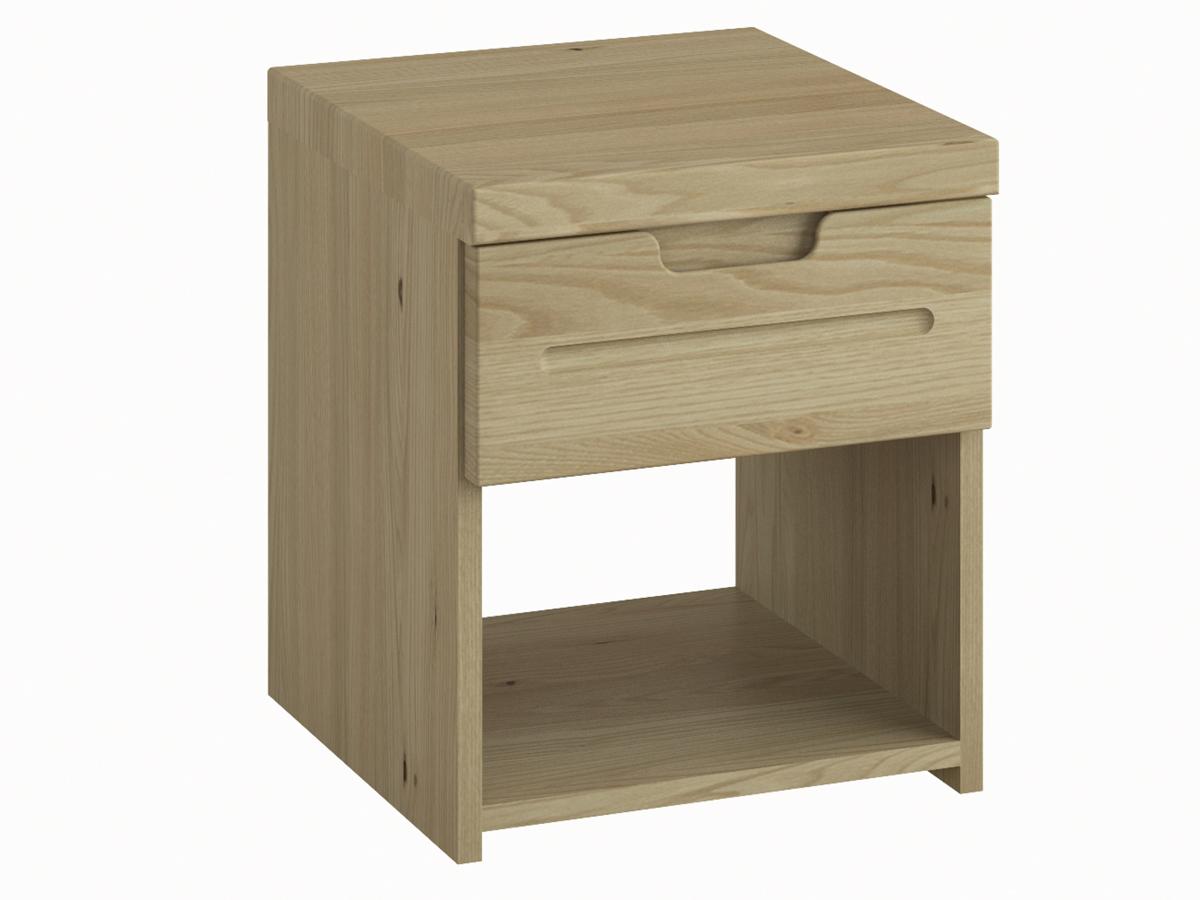 """Nachttisch aus Kastanie """"Lukas"""" mit einer Schublade, in Komforthöhe"""