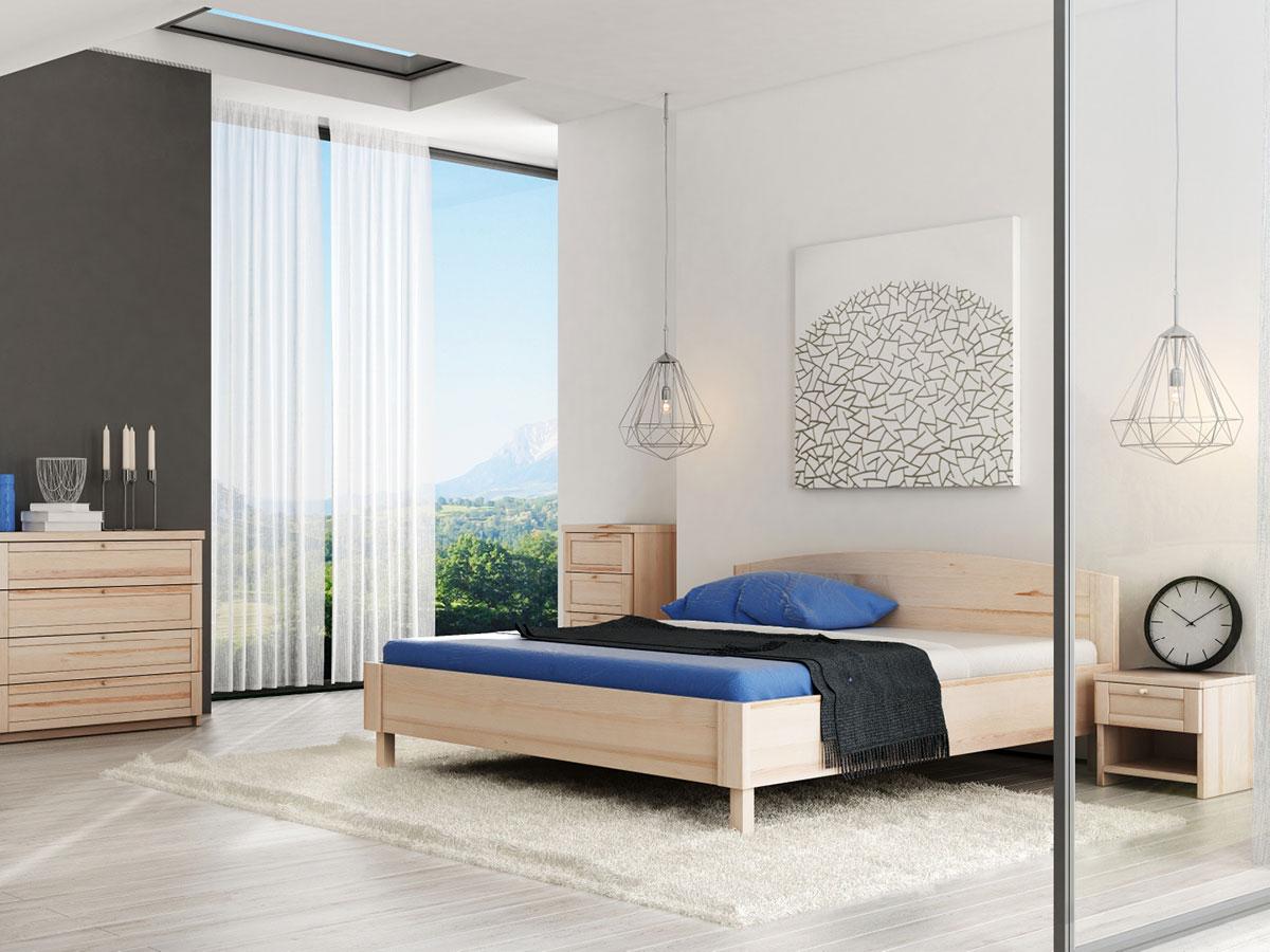 """Schlafzimmer mit Nachttisch in Eiche """"Gerti"""""""