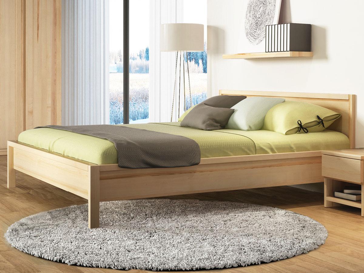 """Schlafzimmer mit Massivholzbett """"Martin"""" aus Esche"""