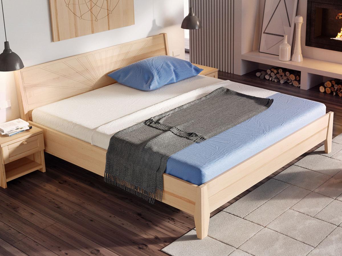 """Schlafzimmer mit Bett Esche """"Matthias"""" 180 x 200 cm"""