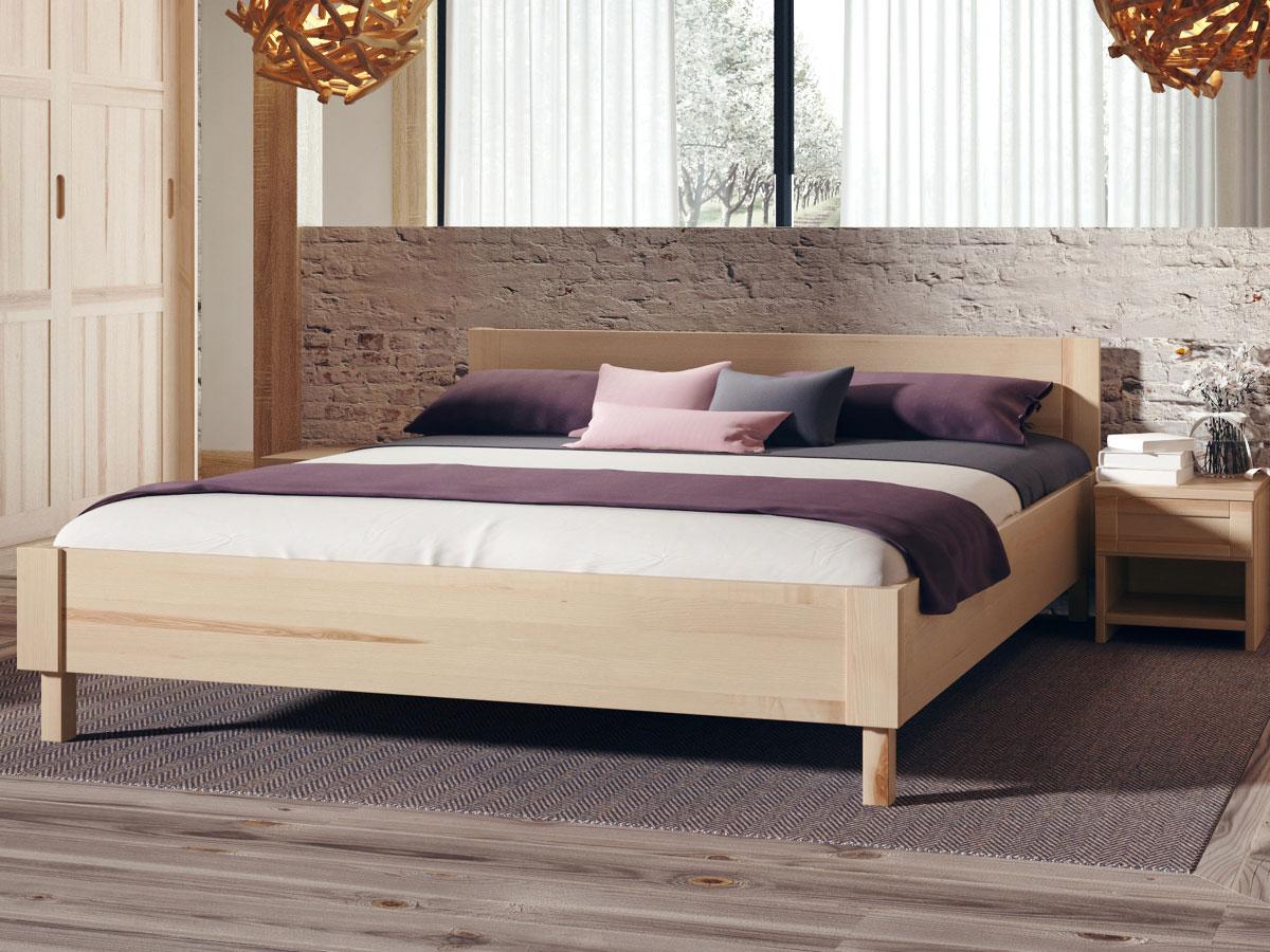 """Schlafzimmer mit Eschenholzbett """"Max"""" 180 x 200 cm"""