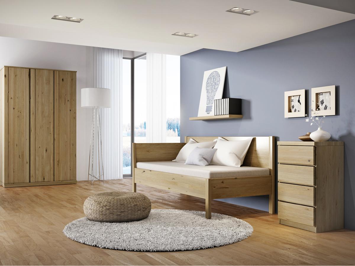 """Zimmer mit Wildeichensofa """"Melanie"""" 90 x 200 cm"""