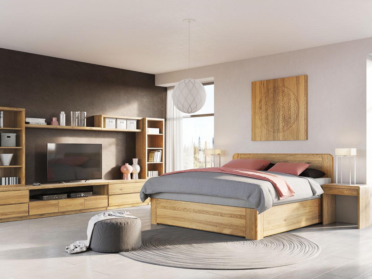 """Schlafzimmer mit Eichenbett """"Niklas"""" Boxspring"""
