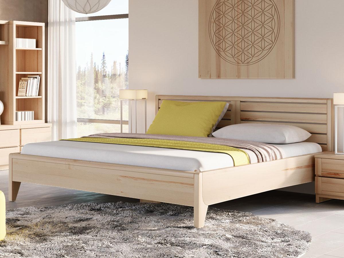 """Schlafzimmer mit Eschenbett """"Nina"""" 180 x 200 cm - metallfrei"""