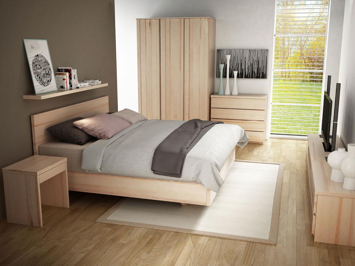 """Schlafzimmer mit Eschenschrank """"Patrizia"""" 3-türig, Höhe 235 cm"""
